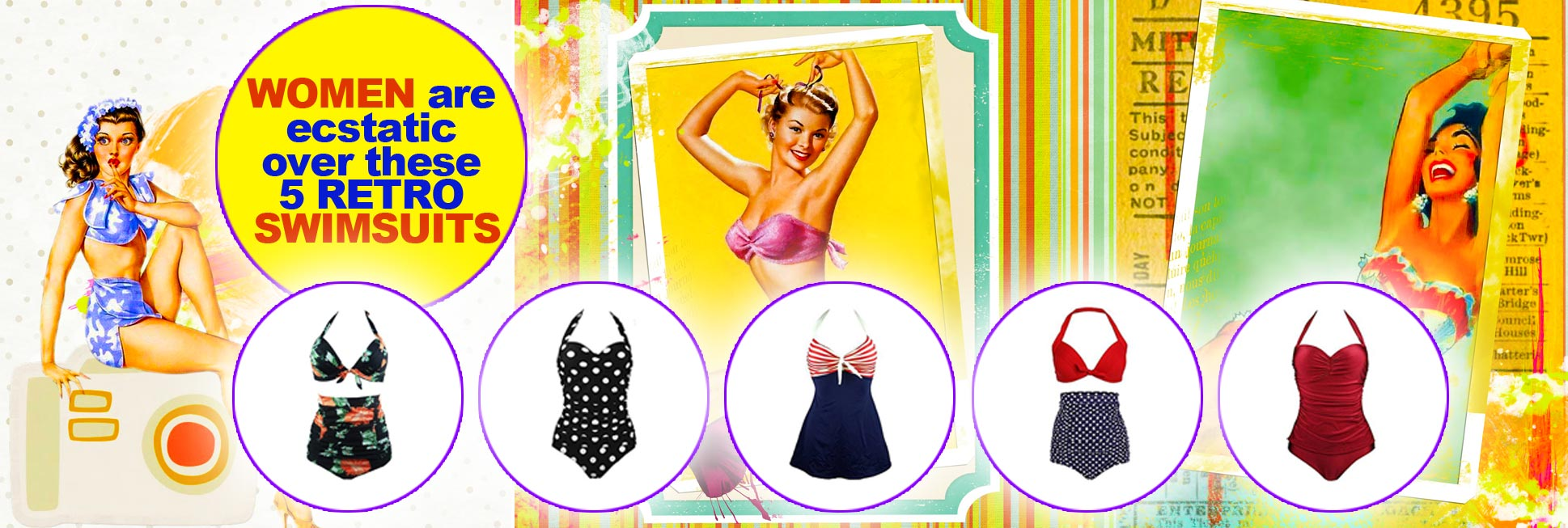 Women are ecstatic over these 5 retro swimsuits
