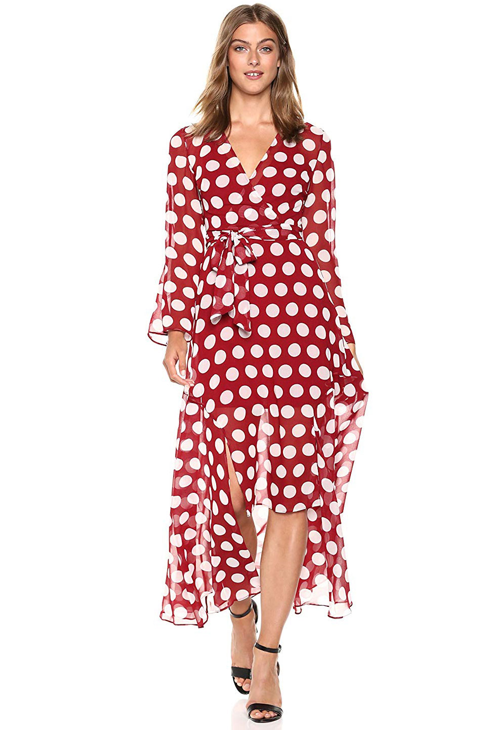 C/Meo Collective Long Sleeve Wrap Dress