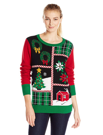 Christmas Ugly Sweater Co Patchwork LIGHT-UP Sweater
