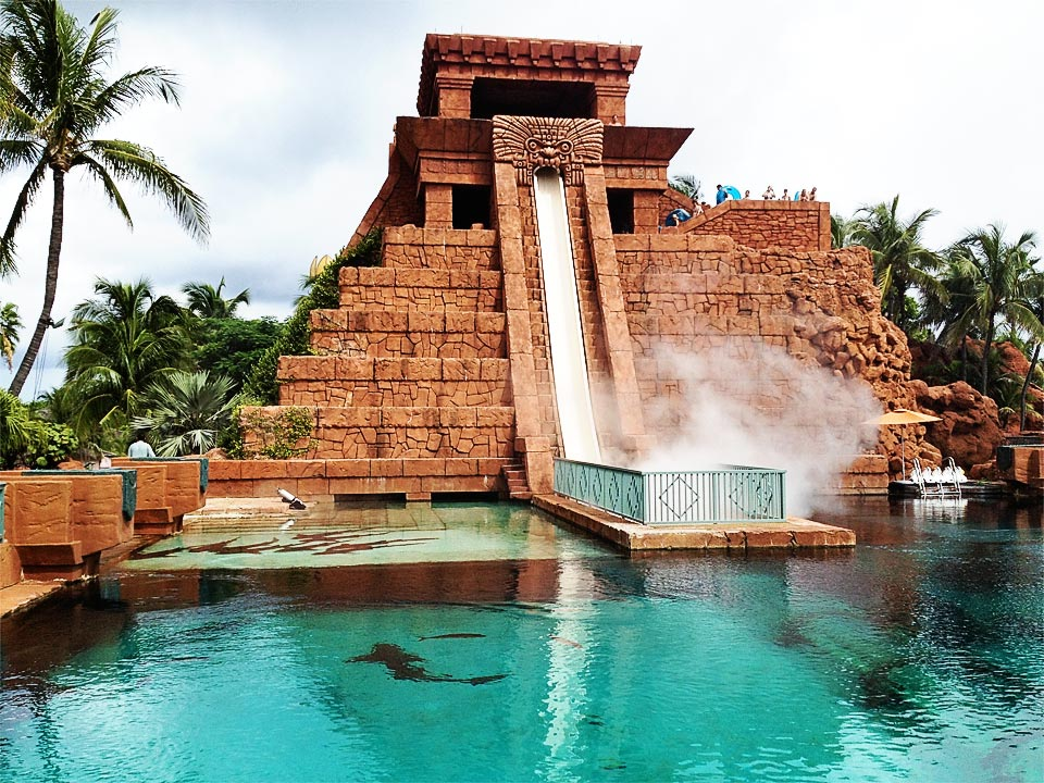 Leap of Faith slide Atlantis Bahamas