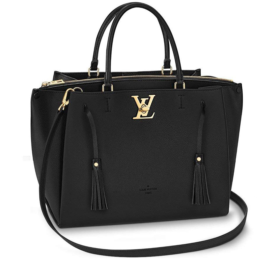 Louis Vuitton Calfskin Leather Tote Handbag