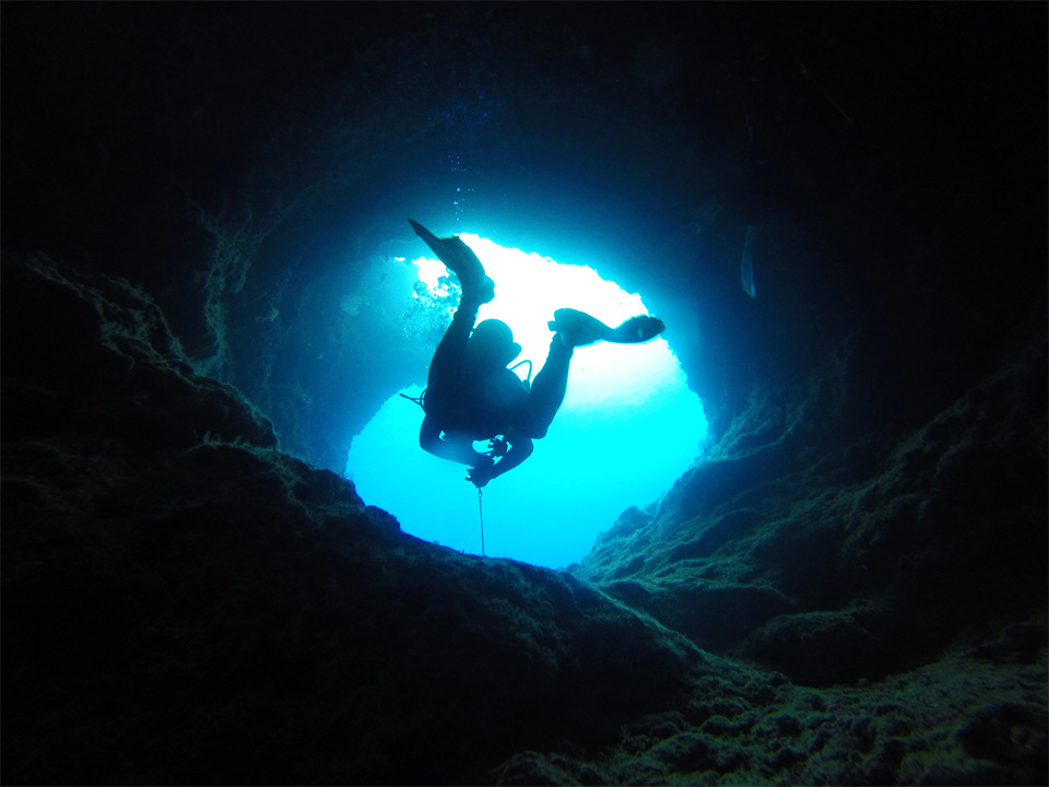 Cave diving<