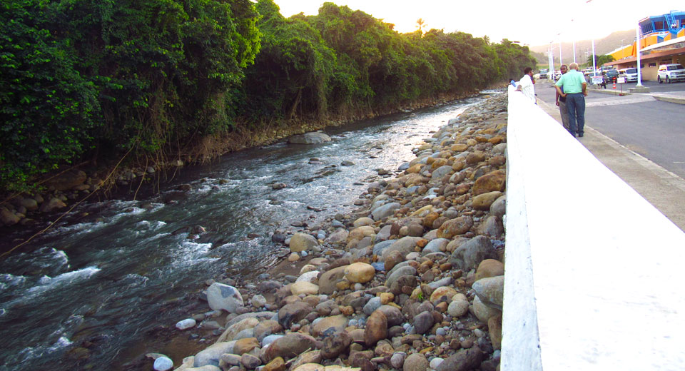 River along the Douglas–Charles Airport in Dominica