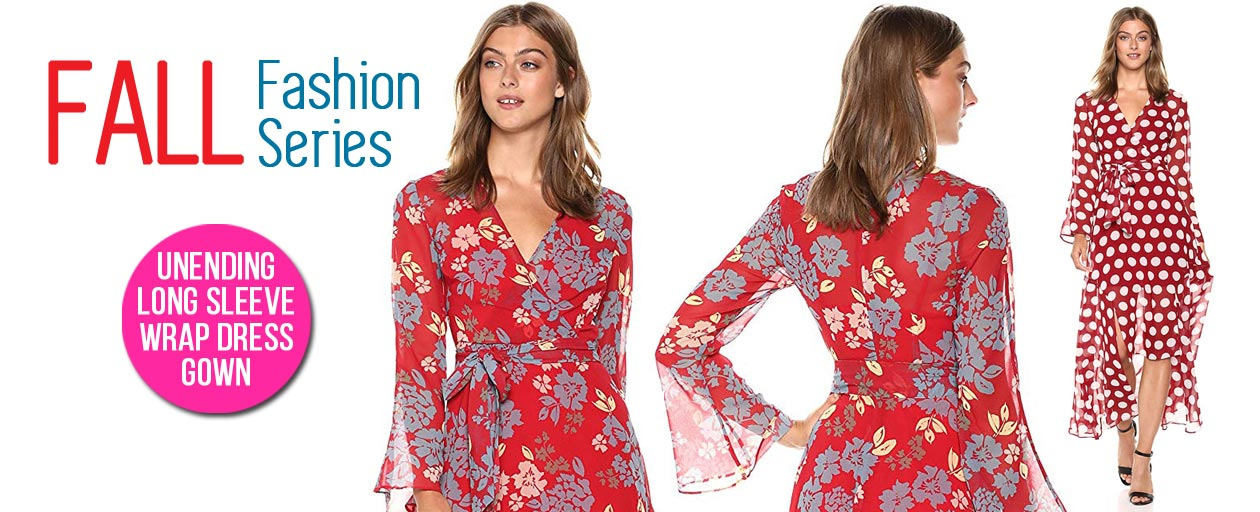 Fall Fashion Series - C/Meo Collective Long Sleeve Wrap Dress