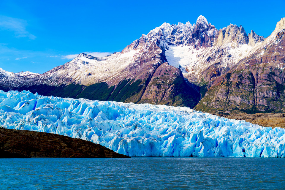 Grey Glacier at the Grey Lake in the Southern Patagonia Ice Field. Chile.