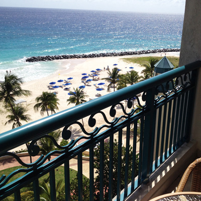 Hilton Barbados balcony view