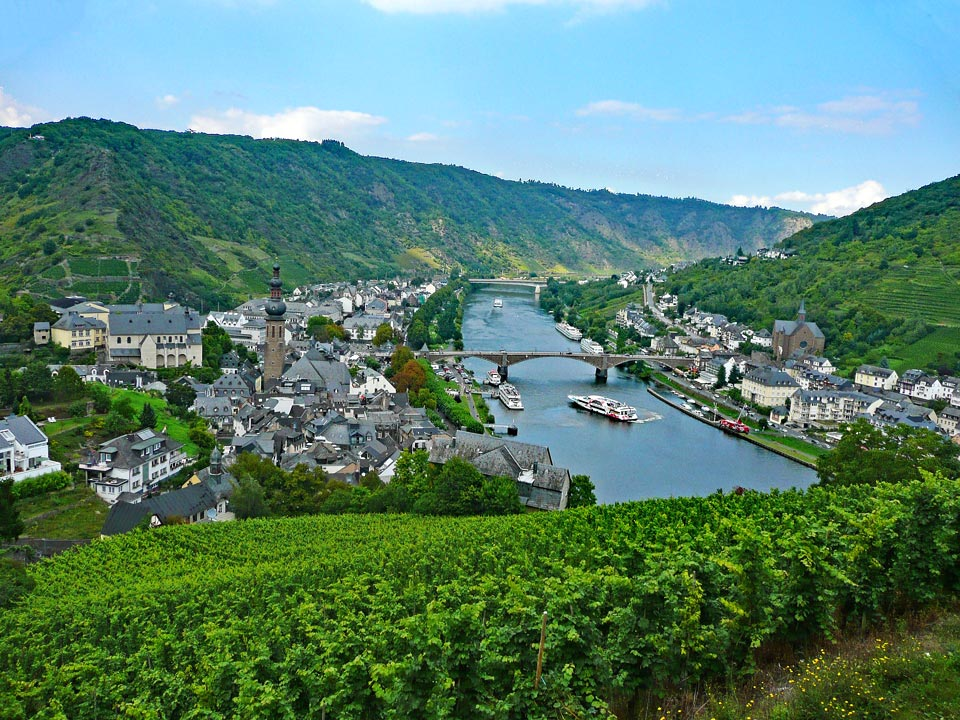 View of the Mosel river, Cochem