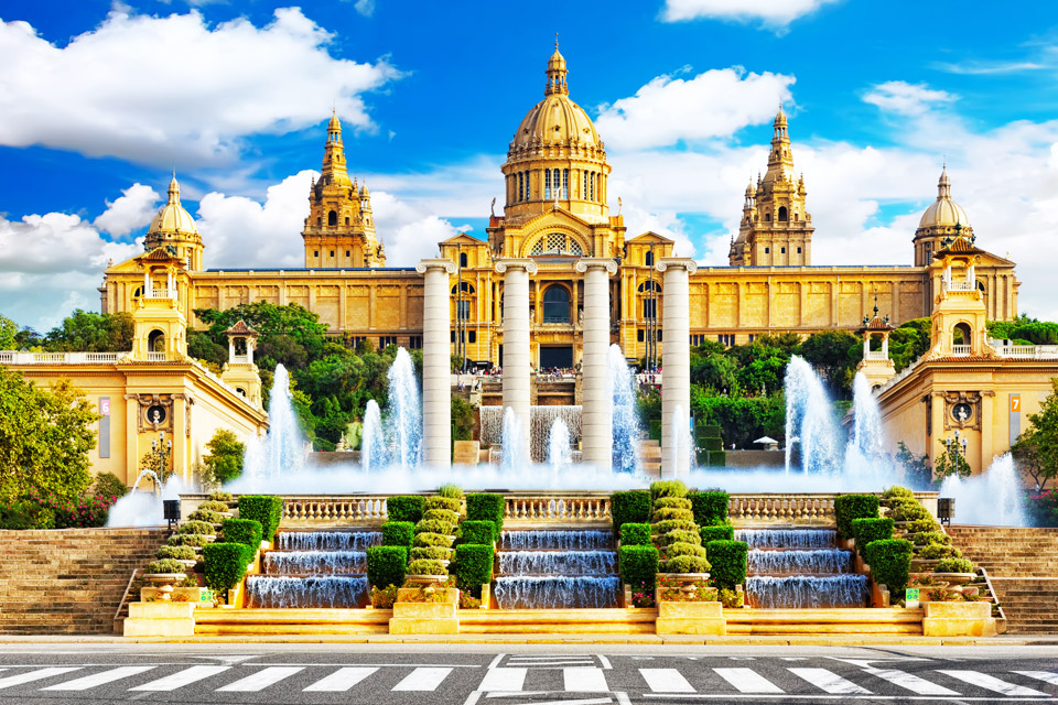 The Magic Fountain of Montjuïc is located in Barcelona, Spain