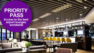 Priority Pass - access to the best airport lounges worldwide