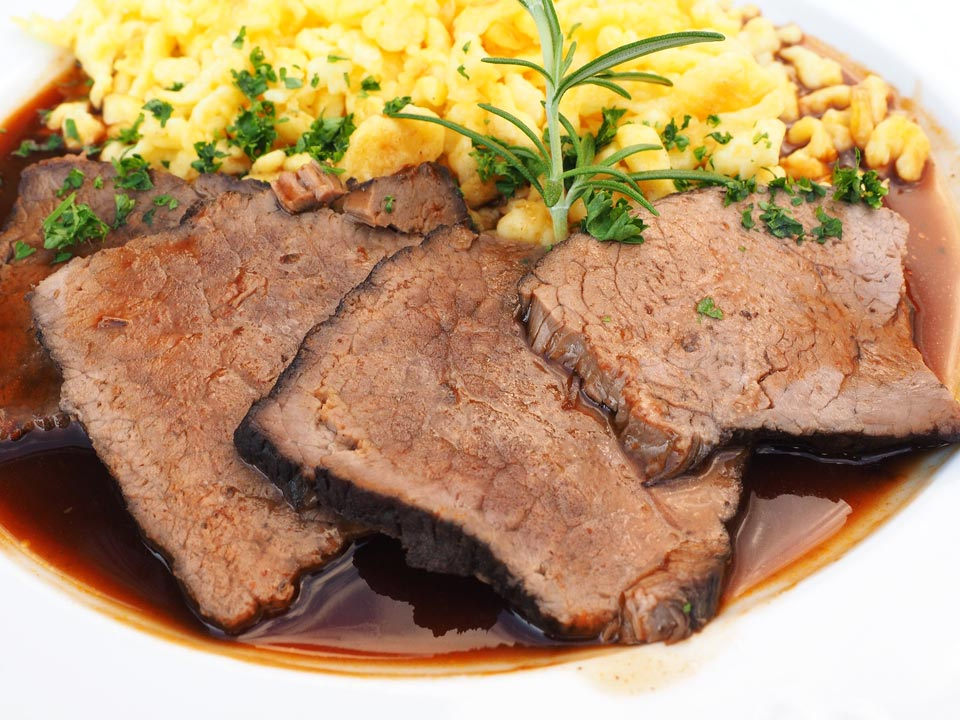 Sauerbraten - a regional favourite in Cochem, Germany