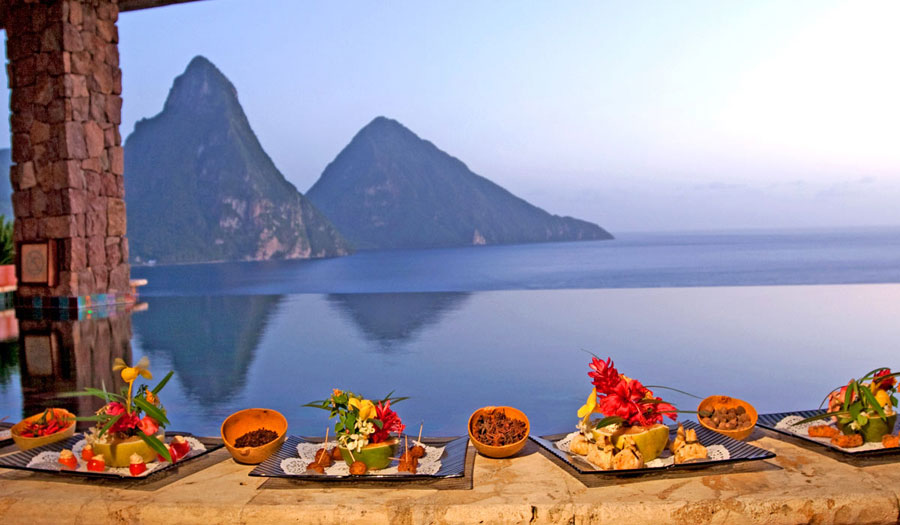 Spices Of The Caribbean. St Lucia. Jade Mountain Hotel