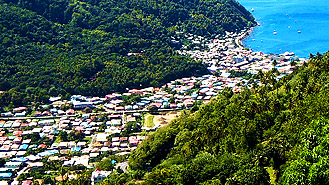 St Lucia enchanting beaches, Piton mountains and Marigot Bay