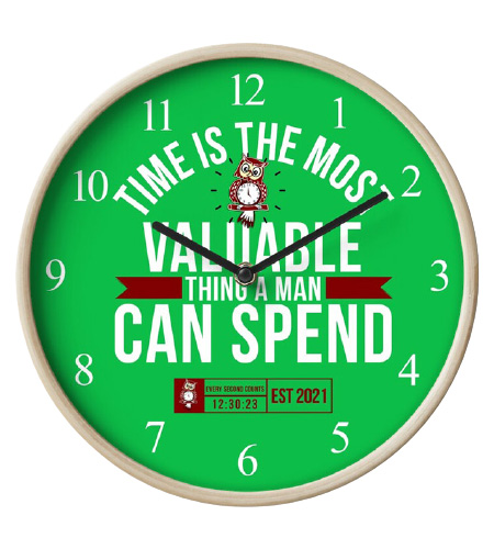 Time Is The Most Valuable Thing A Man Can Spend - Green