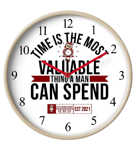 Time Is The Most Valuable Thing A Man Can Spend - White