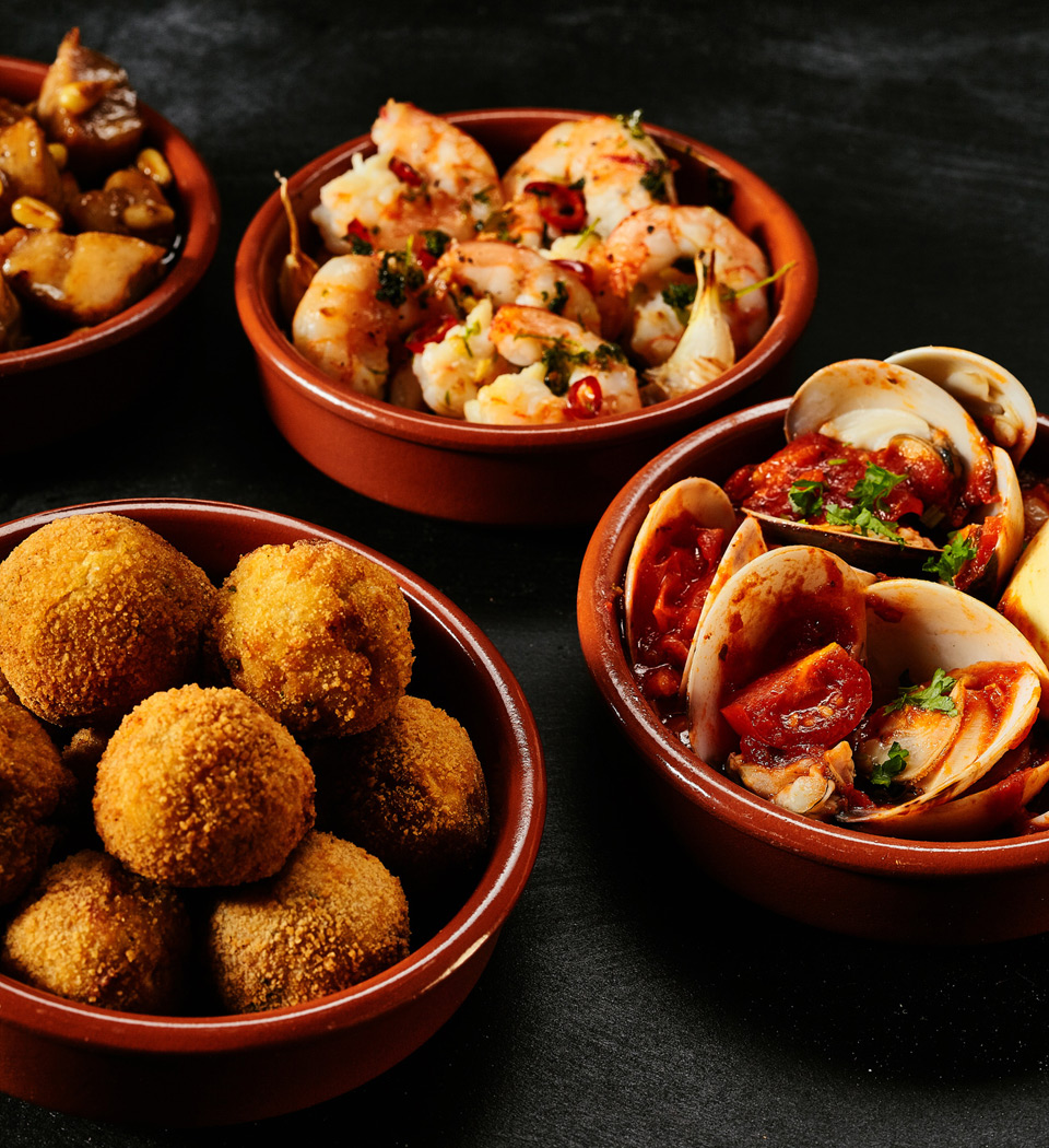 raditional Spanish fried seafood and tapas
