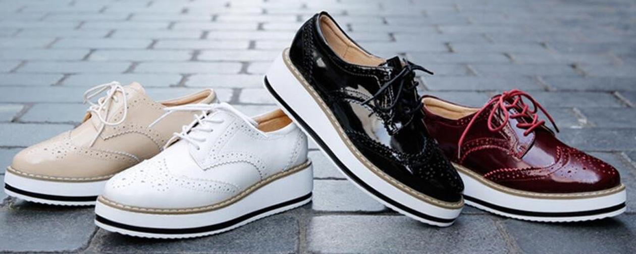 Platform Lace Up Shoes