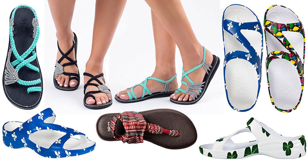 Really Cool Flip Flops And Sandals For Spring Break Travel