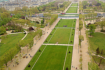 View of the Gardens from the Eiffel Tower